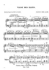 Valses de Elfes (Elven Waltz) : Complete... Volume Op.497 by Behr, Franz