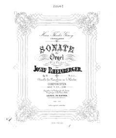 Organ Sonata No.5, Op.111 : Complete Sco... Volume Op.111 by Rheinberger, Josef Gabriel