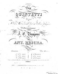 Wind Quintet, Op.100 No.1 : Complete Par... Volume Op.100/1 by Reicha, Anton