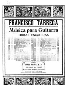 Estudio en Forma de Minuetto : Complete ... by Tárrega, Francisco
