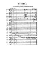 Elektra (Tragödie in einem Aufzuge) : Co... Volume Op.58 ; TrV 223 by Strauss, Richard