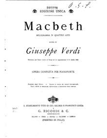 Macbeth : Complete Score by Verdi, Giuseppe