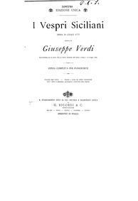 Les vêpres siciliennes (Opéra en cinq ac... by Verdi, Giuseppe
