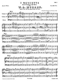 7 Minuets, K.61b : Complete Score Volume K².65a ; K⁶.61b by Mozart, Wolfgang Amadeus