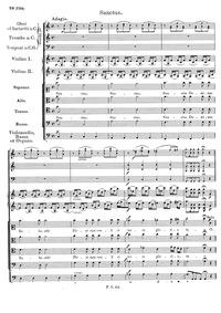 Mass No.4, D.452 (Op.48) : Sanctus Volume D 452 (Op.48) (D 961, 2nd Benedictus) by Schubert, Franz