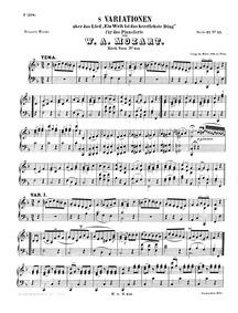 8 Variations on Ein Weib ist das herrlic... Volume K.613 by Mozart, Wolfgang Amadeus