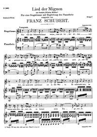 Sehnsucht, D.481 : Voice & piano score Volume D.481 by Schubert, Franz