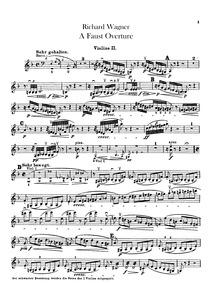 Eine Faust-Ouvertüre, WWV 59 : Violins I... Volume WWV 59 by Wagner, Richard