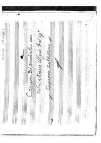 Concerto di mandolino con Violini e Bass... by Gabellone, Gaspare