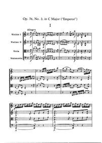 String Quartets, Op.76 : 3. Quartet in C... Volume Op.76 ; Hob.III:75-80 by Haydn, Joseph