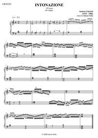 Intonazione del septimo tono : Complete ... by Gabrieli, Andrea
