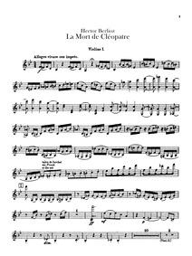 La mort de Cléopâtre (Cléopâtre, scène l... Volume H 36 by Berlioz, Hector