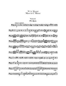 Mass (Große Messe ; Great Mass ; Mass No... Volume K.427 ; K⁶.417a by Mozart, Wolfgang Amadeus