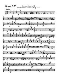 Perpetuum Mobile, Op.257 (Perpetuum mobi... Volume Op.257 by Strauss Jr., Johann