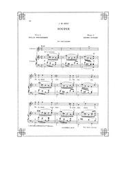 Soupir : Complete Score (Original key: h... by Duparc, Henri