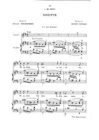 Soupir : Complete Score (B minor: medium... by Duparc, Henri