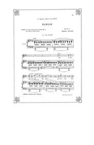 Elégie : Complete Score (Original key: h... by Duparc, Henri