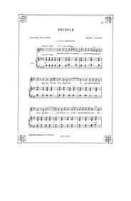 Phidylé : Complete Score (Original key: ... by Duparc, Henri