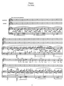 La fuite : Complete Score by Duparc, Henri