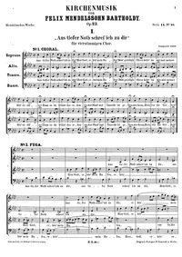 Kirchenmusik, Op.23 : Complete Score Volume Op.23 by Mendelssohn, Felix