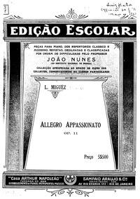 Allegro appassionato, Op.11 : Complete s... by Miguez, Leopoldo