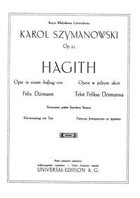Hagith, Op.25 : Complete Score Volume Op.25 by Szymanowski, Karol