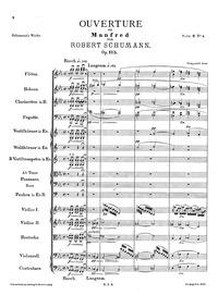 Manfred, Op.115 : Complete Score Volume Op.115 by Schumann, Robert