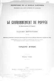 L'Incoronazione di Poppea, SV 308 : Comp... by Monteverdi, Claudio