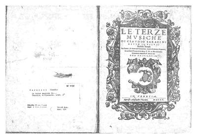 Le terze Musiche : Complete parts by Saracini, Claudio