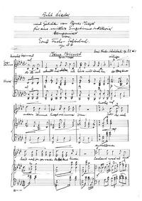 8 Lieder nach Gedichten von Agnes Miegel... by Fuchs-Schönbach, Ernst