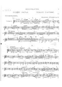 Feuilles d'automne, Op.29 : Violin 1 Volume Op.29 by Rebikov, Vladimir