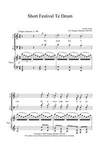 Short Festival Te Deum : Complete score by Holst, Gustav