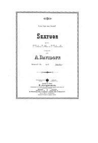 String Sextet (Sextet in E-flat, Op.12) ... Volume Op.12 by Davidov, Aleksey