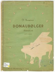 Donauwellen (Valurile Dunări ; Waves of ... by Ivanovici, Iosif