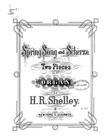 Spring Song and Scherzo (2 Pieces for th... by Shelley, Harry Rowe