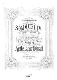 Sommerliv, Op.7 : Complete Score Volume Op.7 by Backer-Grøndahl, Agathe