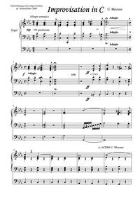 Sortie (Improvisation in C) : Complete S... by Metzner, Ulrich