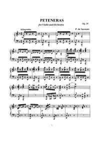 Peteneras, Op.35 : Violin and Piano scor... Volume Op.35 by Sarasate, Pablo de
