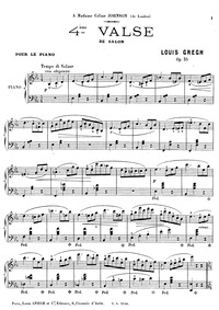 4th Valse de salon, Op.35 (4^{ème} Valse... Volume Op.35 by Gregh, Louis