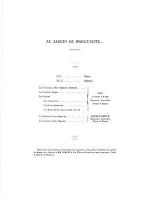 Au jardin de Marguerite (In Marguerite's... by Roger-Ducasse, Jean