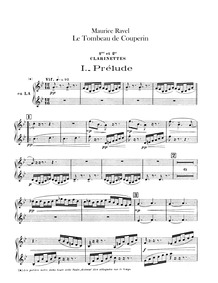 Le tombeau de Couperin (orchestra) : Cla... Volume M.68a by Ravel, Maurice