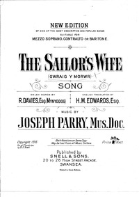 Gwraig y Morwr (The Sailor's Wife) : Com... by Parry, Joseph