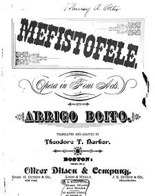 Mefistofele : Complete score by Boito, Arrigo