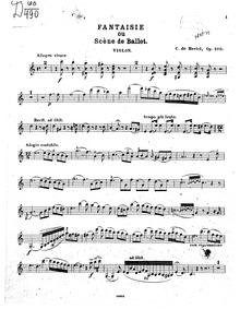 Scène de Ballet (Fantaisie, ou Scène de ... Volume Op.100 by Bériot, Charles-Auguste de