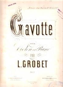 Gavotte : Piano Score by Grobet, Louis