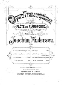 Opera Transcriptions, Op.45 : 5. Don Gio... Volume Op.45 by Andersen, Joachim