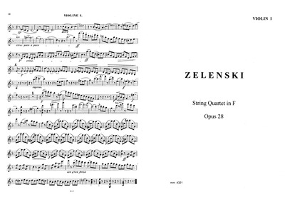 String Quartet No.1, Op.28 : Complete Pa... Volume Op.28 by Żeleński, Władysław