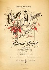 Poésies d'Automne, Op.36 : Complete scor... Volume Op.36 by Schütt, Eduard