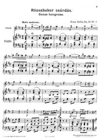8 Danse Hongroise (Bártfai emlék) : Pian... Volume Op.30 by Drdla, František Alois