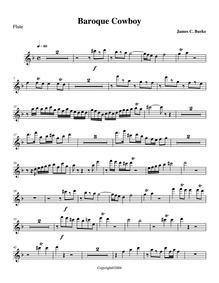Baroque Cowboy : Flute by Burke, James C.